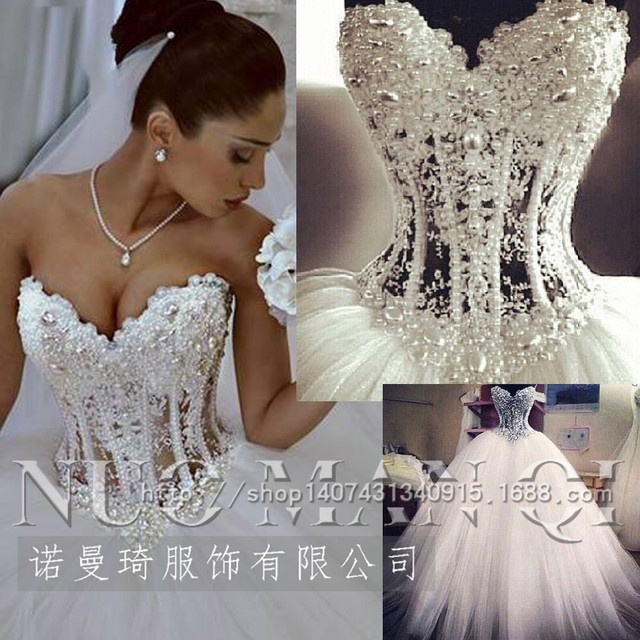 high end openwork lace wholesale Korean Gown crystal Bridal Gowns ...