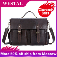 WETSAL Multifunction Men's Briefcases Messenger Bag Men Genuine Leather Laptop Bag Large Capacity Computer Bags Briefcases 8913