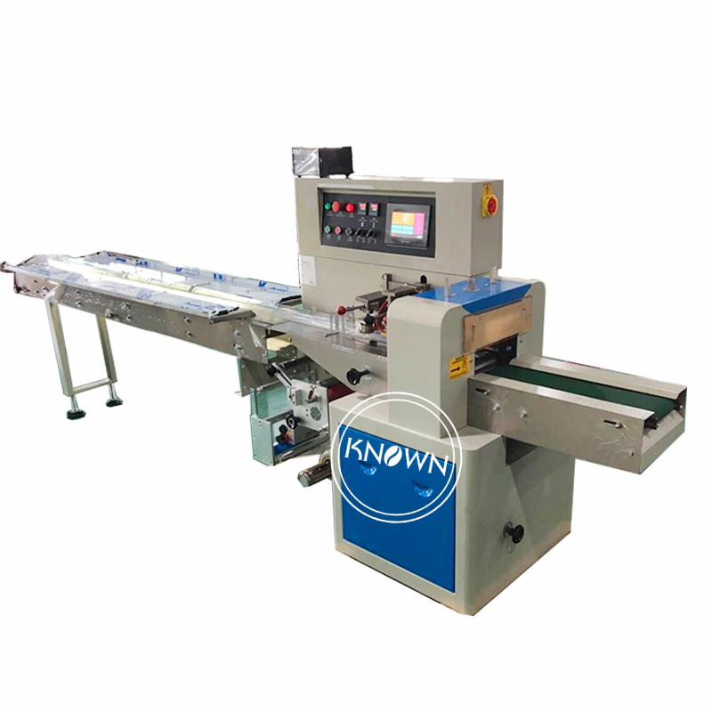 TH-250X Automatic towel packing machine, mooncake candy chocolate pillow type packing machine for saleTH-250X Automatic towel packing machine, mooncake candy chocolate pillow type packing machine for sale
