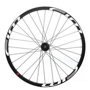 Image 4 - Bicicleta de Montaña de carbono XC/Trail wheels, con cubierta de eje pasante, sin tubo, 27mm de ancho