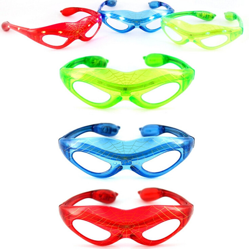10 adet / grup Parti Dekorasyon LED Spiderman Gözlük Doğum Günü - Tatiller ve Partiler Için - Fotoğraf 2