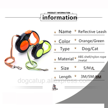 Hateli 3M 5M 8M Reflective Retractable Dog Leash 10Ft 16Ft 26Ft Automatic Extending Pet Walking Lead Cat Traction Rope for Dogs