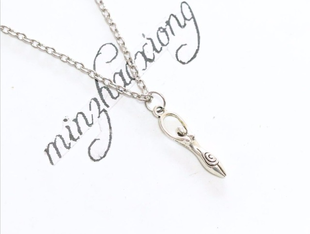 New Vintage Wicca Pagan Goddess Charms Antique Silver Symbol Of