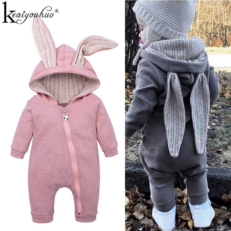 KEAIYOUHUO 2019 Spring Baby Girl Boy Clothes Rompers Long Sleeve Newborn Rompers Christmas Girl Clothes Cotton Infant Clothing