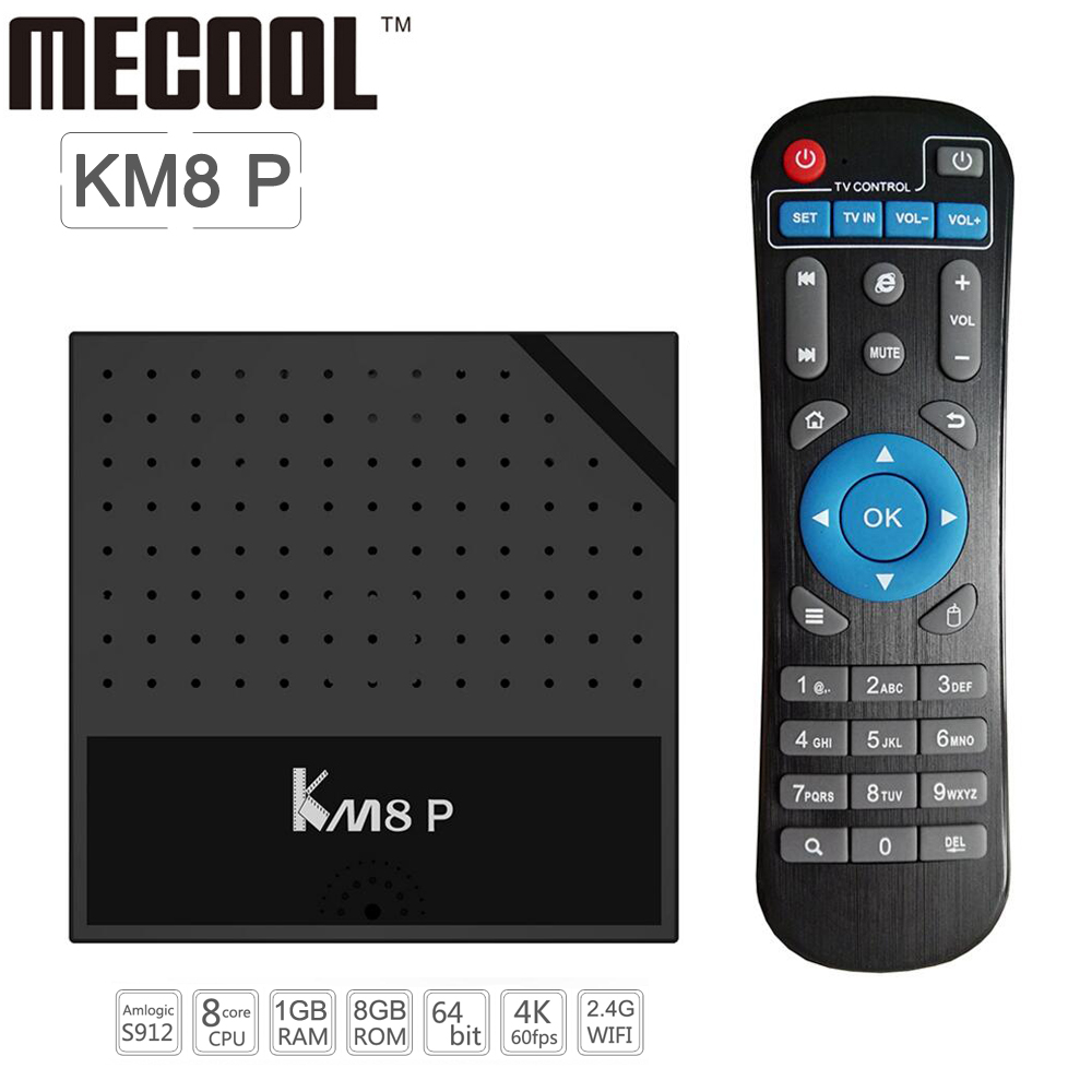 Original Mecool KM8 P Amlogic S912 Octa Core Cuadro de TV Android 6.0 Inteligent