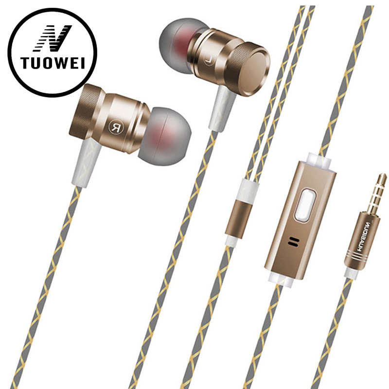 Metal Headset Heavy Bass headphones Noise Canceling Earbuds for Mobile Phone iPhone Hi-fidelity fone de ouvido gamer ecouteur superlux hd 562 omnibearing headphones noise canceling monitoring rotatable