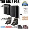 New 2 Pcs Bundle Bass Trap Acoustic Panels Sound Absorption Foam 30 X 30 X 50