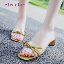 Summer womens sandals new comfortable bow shoes non-slip transparent jelly  C0252