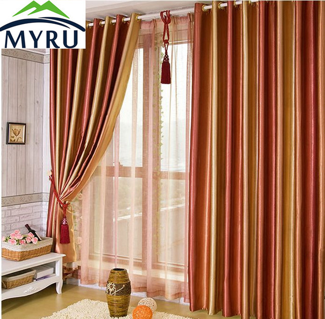 MYRU upscale living room colorful curtains red green purple brown ...