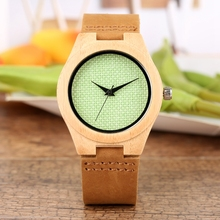Chic Fresh Green Nylon Dial Wood Women Watch Quartz Ultra-light Fashion Casual Wrist Watches Top Gifts for Girls Lady horloges ultra chic блузка