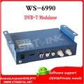 Hdmi modulador Modulador DVB-T Satlink WS-6990 HD AV de entrada de un solo canal Compacto y montable en pared WS6990 WS 6990