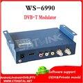 Hdmi modulador WS-6990 Satlink HD AV input single-canal Modulador DVB-T Compacto e montável em parede WS6990 WS 6990