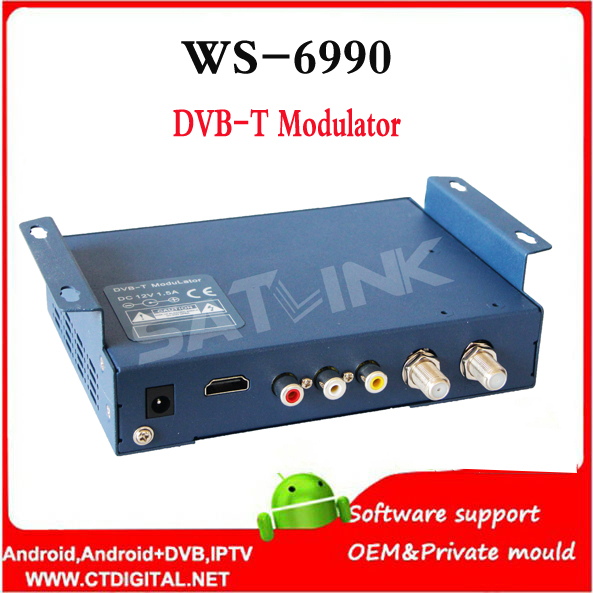 hdmi modulator Satlink WS 6990 HD AV input single channel DVB T Modulator Compact and wall