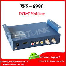 Hdmi modulateur Satlink WS-6990 HD AV entrée unique-canal DVB-T Modulateur Compact et montage mural WS6990 WS 6990