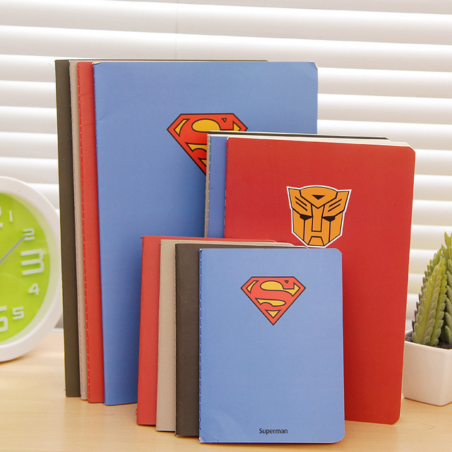 Hot Superman Series Hero  A6 A5 B5 Notebook Diary Book Exercise Composition Notepad Escolar Papelaria Gift Stationery For Boy