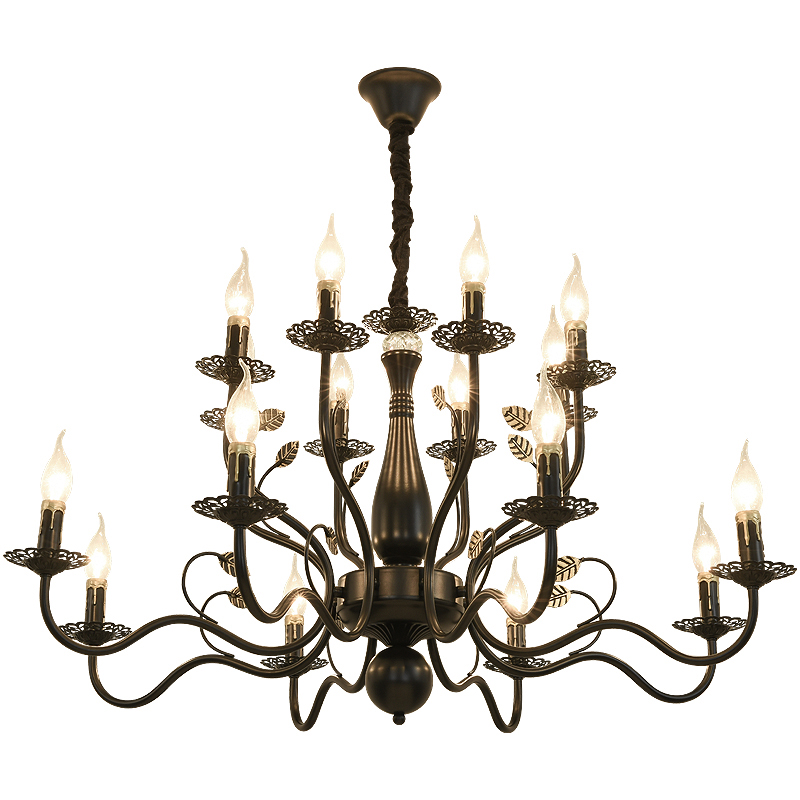 American Rustic Wrought Iron Chandelier Lamp Home Led Chandelier For For Dining Cafe Lounge Aisle Brass Crystal Hanging Light Chandeliers
