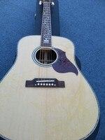 2016 Nowa Fabryka + + Naturalne Chibson J45 deluxe gitara akustyczna, drzewo życia prawdziwe abalone inkrustacji palisander ciała i strony