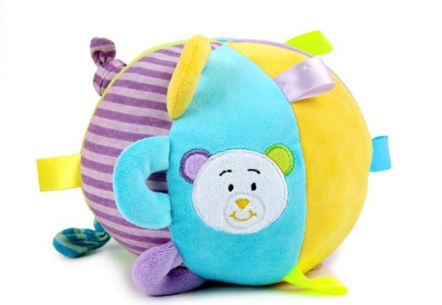 Soft Fabric Animals Plush Toy Chime Ball Grab Education Toy