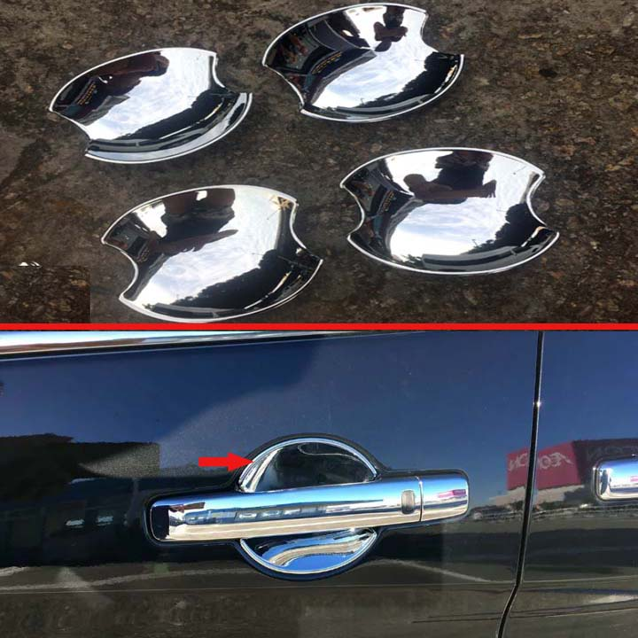 สำหรับ NISSAN SERENA C25 C26 C27 2005-2019 ABS Chrome Door Handle ชามถ้วย Cavity แทรก Trim จับ molding Garnish