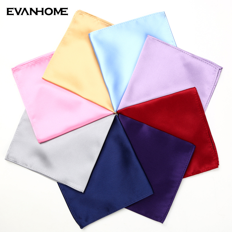 New Brand 2019 Fashion Men Handkerchief High Quality Solid Color Pocket Square Handkerchief For Men Wedding Party With Gift Box