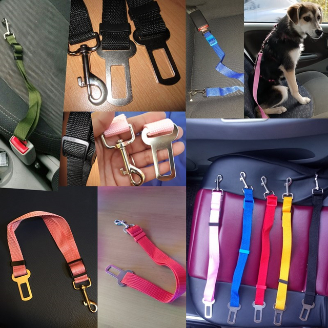 Vehicle Car Pet Dog Seat Belt Puppy Car Seatbelt Harness Lead Clip Pet Dog Supplies Safety Lever Auto Traction Products 3S1 1