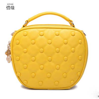 2017 Retro pu Leather Women Handbag Small heart shape bag Fashion lady Simple Shoulder Bag messenger bag mini Bags yellow/grey 2017 new simple mini women shoulder bag fashion chain messenger bags high quality pu leather cross body for lady small bag
