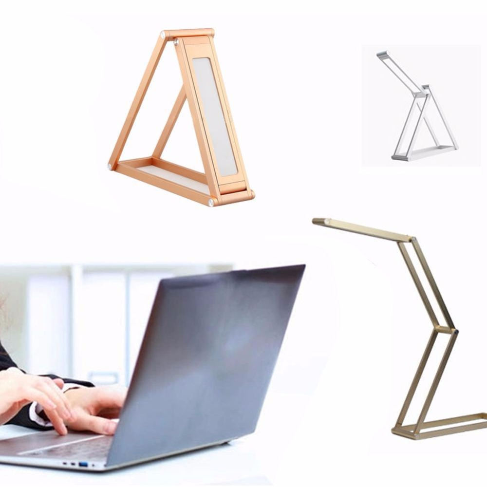 ФОТО 1X 3.7V / 1000mA Battery Portable LED Desk Lamp Reading Light Four Sections Foldable Rechargeable  No Glaring And Eye Protection