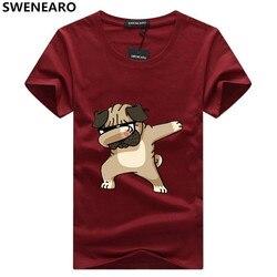 SWENEARO, мужские футболки, модные, с принтом собаки, хипстер, забавная футболка, мужская, летняя, повседневная, уличная, хип-хоп, футболка, мужски...