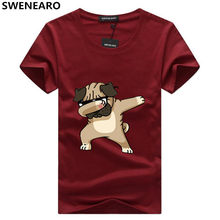 T-shirt da uomo SWENEARO moda animale cane stampa Hipster t-shirt divertente uomo estate Casual Street Hip-hop Tee Shirt uomo top 5XL