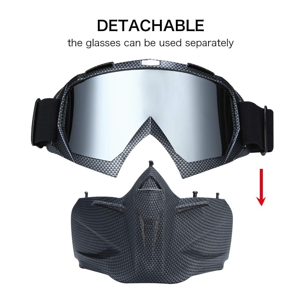 689b54f204 Nuevo Goggle tintado UV Stripe motocicleta gafas Motocross bicicleta Cross  Country Flexible gafas nieve esquí Lunette