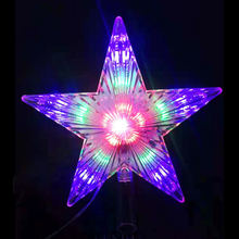Holiday Christmas Tree TOP Star Led Fairy Lights garland ornament outdoor light  luces Wedding Party Garden Decor