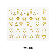 Golden 3D Butterfly Nail Stickers Water Transfer Decal Design DIY Tips Manicure Nail Art Decals Paper Nails Art Decorations 20pcs lot nail art stickers diy 3d nail tips design water transfer foil glitter decals manicure nail decoration tools stickers