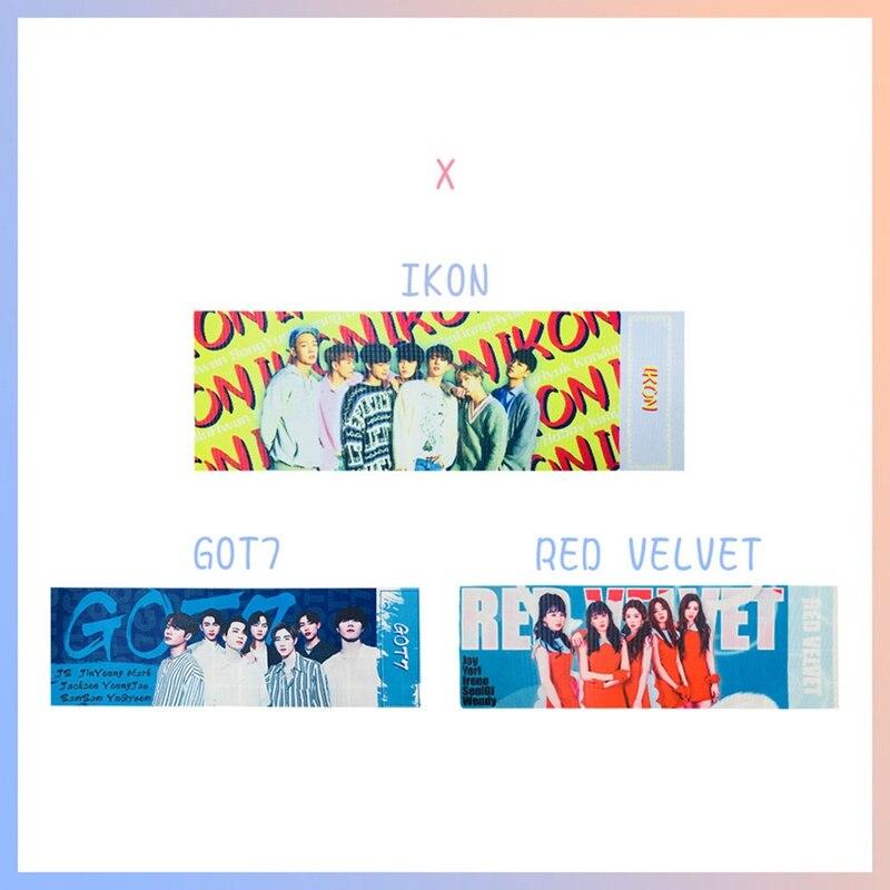 1 Piece Kpop SEVENTEEN EXO GOT7 IKON RED VELVET Concert Support Hand Banner  Fabric Hang Up Poster