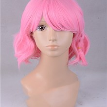 Pripara Reona West Pink Wig Cosplay Hair Adjustable Halloween