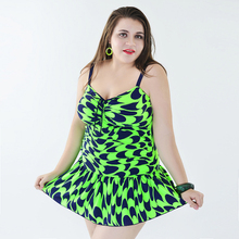 Plus Size Swimwear Women One Piece Womens Swim Wear 2018 Bathing Suit Dot Underwire Monokini Dress Feminino 4xl 5xl 6xl 7xl Sets