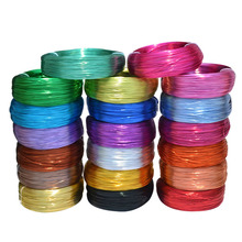 10 Meters / Roll 1mm Round Plated Aluminium Craft Floristry Wire For Jewellery Beads Making Findings Braided material 20 colors(China)