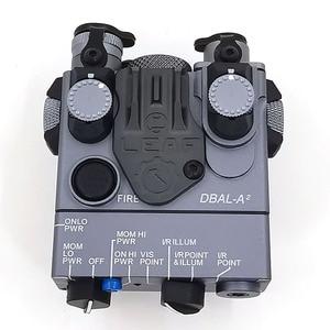 Image 4 - An/PEQ 15A 원격 스위치 전술 사냥 소총 airsoft 배터리 상자와 레드 레이저/led 빛