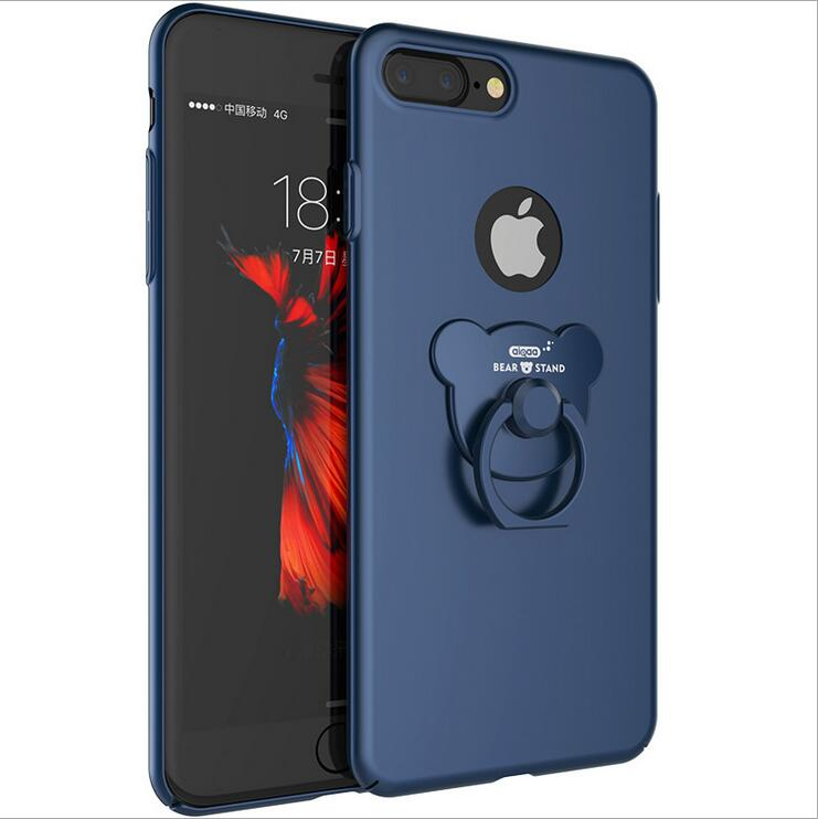 Vpower Hard PC phone case For iphone7 7 Protective Back Cover For iPhone 7 Plus Finger Ring Holder Phone Cover Shell
