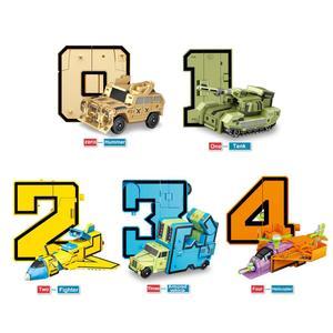 Image 4 - 10 pçs número de transformação robô brinquedo blocos de construção deformação bolso morphers educacional figura ação brinquedo para crianças