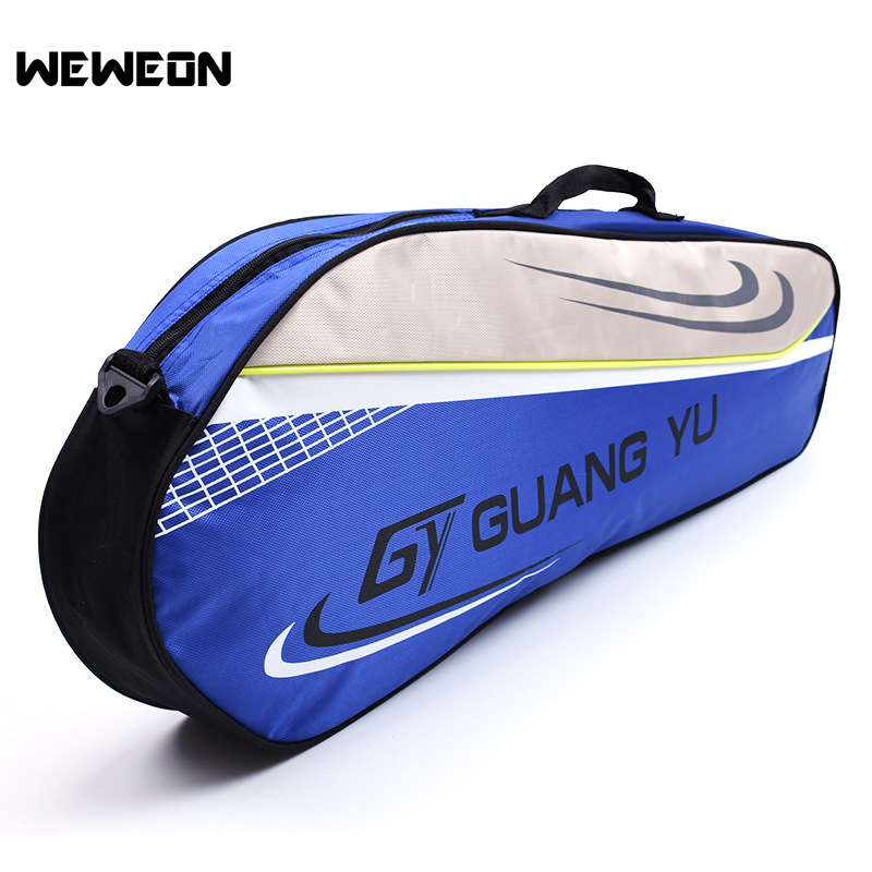 Simple Style Badminton Bag for Men Women 3 Cplors Sports Bag (for 3 Badminton Racquets) Badminton Training Bag Rackets Storage