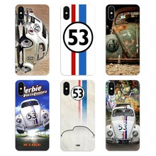 Silicone Phone Shell Cover For Apple iPhone 4 4S 5 5S 5C SE 6 6S 7 8 X XR XS Plus MAX Herbie 53 VW bug beetle Pattern(China)
