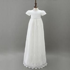 Image 2 - HAPPYPLUS fildişi prenses elbise bebek kız vaftiz elbiseler kat uzunluk uzun elbise için bebek duş vaftiz elbise bebek kız