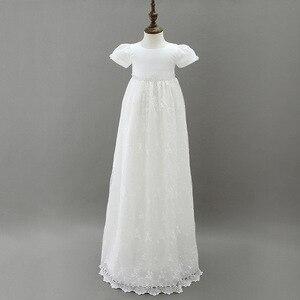 Image 2 - HAPPYPLUS ivoire robe de princesse bébé fille robes de baptême parole longueur longue robe pour bébé douche robe de baptême pour bébé filles