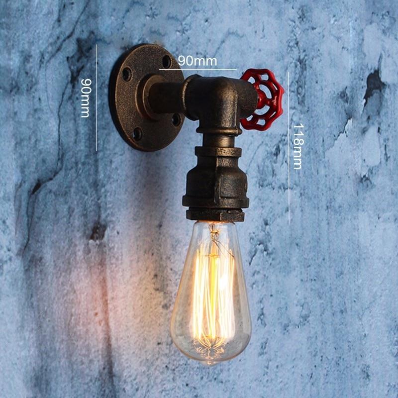 Image 5 - 2 タイプ E27 ヴィンテージ水道管壁ランプ蛇口形状スチームパンクロフト工業鉄さびレトロなホームバーの装飾照明器具    グループ上の ライト