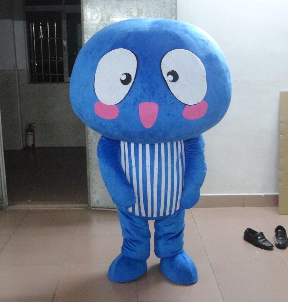 Costumes de mascotte de champignon bleu de haute qualité offre spéciale costumes de plante de couleur pour les costumes de fête d'halloween