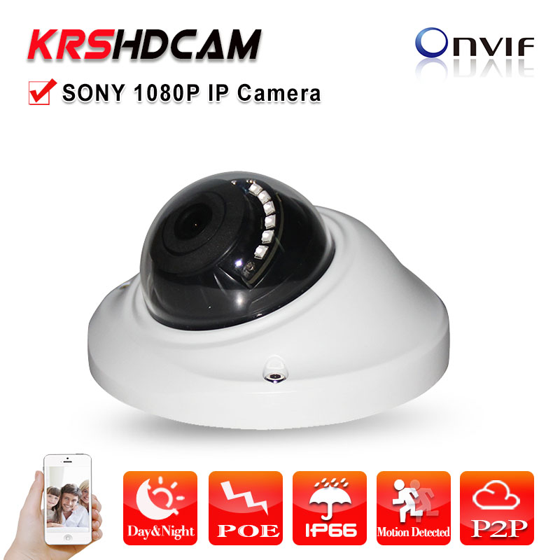 Mini Full HD 1080P IP camera  POE ONVIF outdoor Metal waterproof dome CCTV Support Phone Android IOS cameras de seguridad new waterproof ip camera 720p cctv security dome camera video capture surveillance hd onvif cctv infrared ir camera outdoor