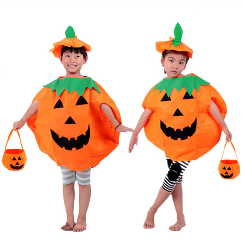 Women Men Halloween Costume Boy Girl Costumes Adult Pumpkin Outfit Children Kids Clothes for Halloween Cosplay Party Cape
