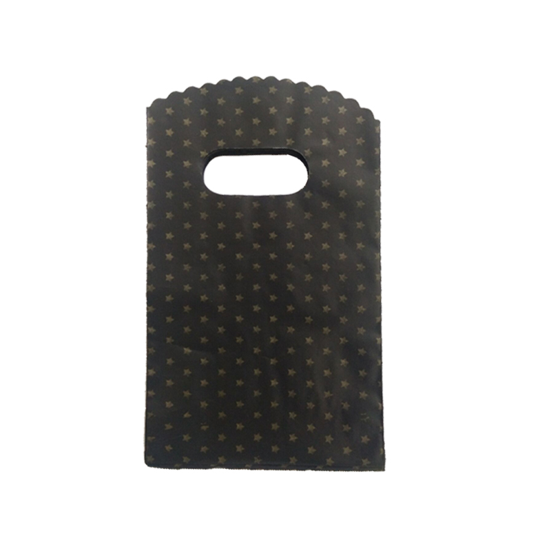 9*15cm 100pcs/lot gold star black small plastic bags jewelry nuts packaging bags cute plastic gift bag shopping bags with handle