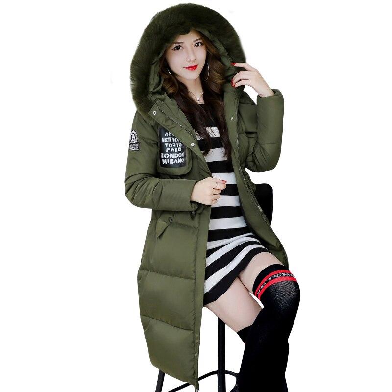 Parka Femmes Blue D'hiver Taille navy rembourré La Veste Coton gray Fourrure Manteau Pink Belle Green Chaud Mince army Mode Plus Col De Épaissir Vêtements black SnYTw