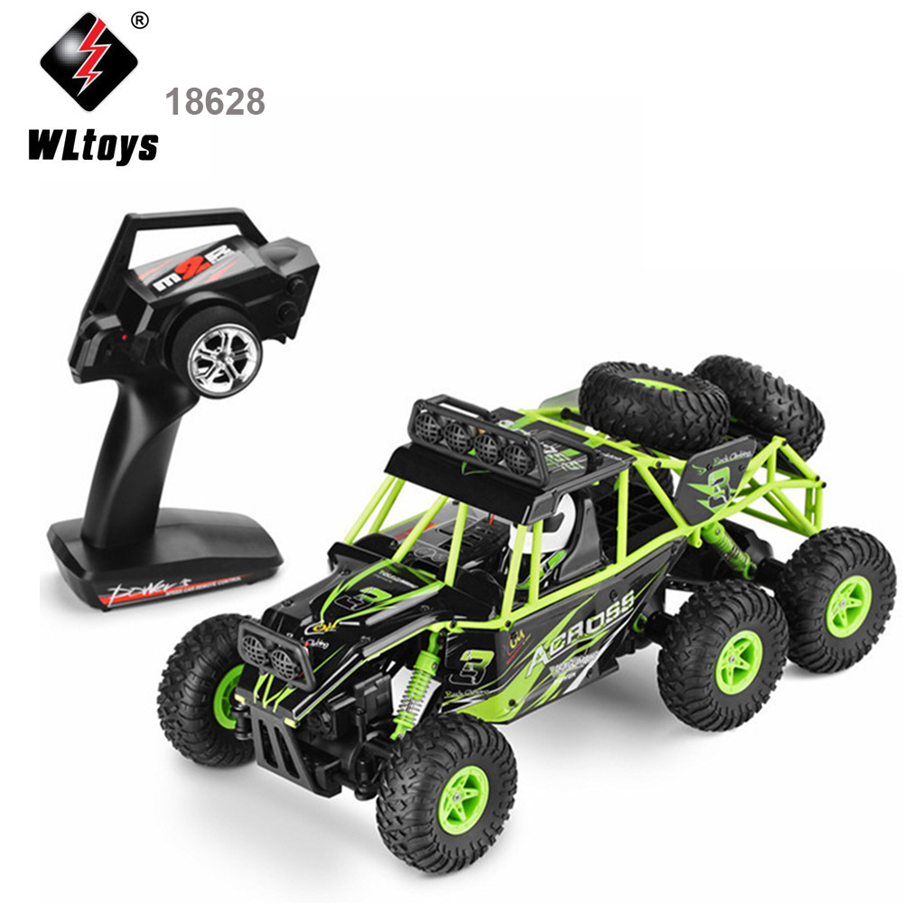 Wltoys 18628 RC Car Remote Control Toy Six Drive Cross Country Climbing Vehicle 2.4G Charging Stunt Rock Climbing Vehicle Model